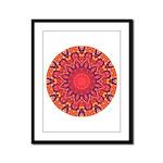 Sunburst Mandala Framed Panel Print