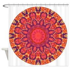 Sunburst Mandala Shower Curtain