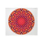 Sunburst Mandala Throw Blanket