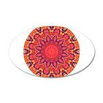 Sunburst Mandala 20x12 Oval Wall Decal