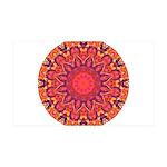 Sunburst Mandala 35x21 Wall Decal