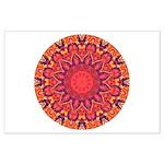 Sunburst Mandala Large Poster