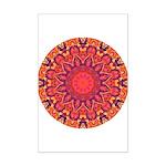 Sunburst Mandala Mini Poster Print