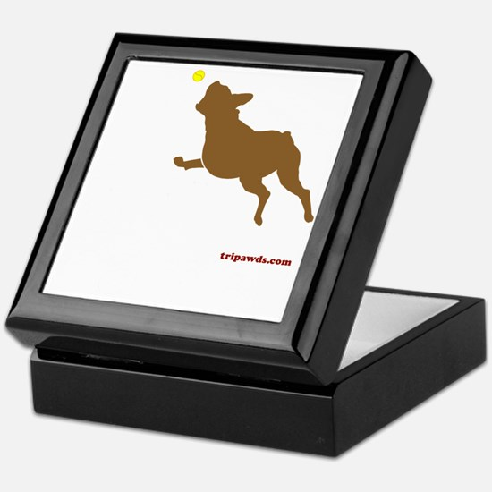 Tri Harder Three Legged Boxer Black Keepsake Box
