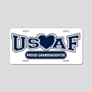 Air Force Granddaughter Aluminum License Plate