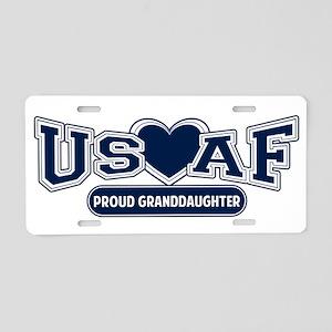 Air Force Granddaughter Aluminum License Plate