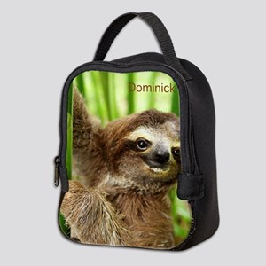 Dominick The Baby Sloth On Neoprene Lunch Bag