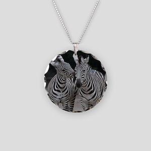 Zebra005 Necklace Circle Charm