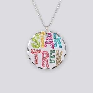 Cast Names-BLANK NO WHITE Necklace Circle Charm