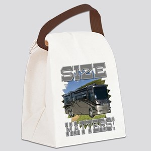 Size Matters Class A Motorhome Canvas Lunch Bag