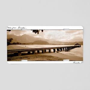 hanalei-bay-pier-rgb-lg Aluminum License Plate