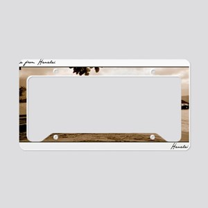 hanalei-bay-pier-rgb-lg License Plate Holder