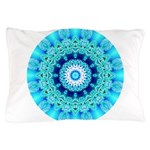 Blue Ice Lace Mandala Pillow Case