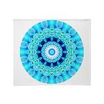 Blue Ice Lace Mandala Throw Blanket