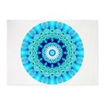 Blue Ice Lace Mandala 5'x7'Area Rug