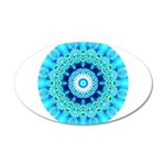 Blue Ice Lace Mandala 20x12 Oval Wall Decal