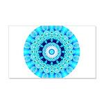 Blue Ice Lace Mandala 20x12 Wall Decal