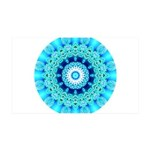 Blue Ice Lace Mandala 35x21 Wall Decal