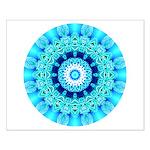 Blue Ice Lace Mandala Small Poster