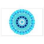 Blue Ice Lace Mandala Large Poster