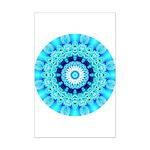 Blue Ice Lace Mandala Mini Poster Print