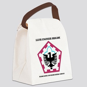 555 ENGINEER BRIGADE HQ AND HQ CO Canvas Lunch Bag