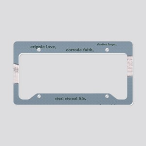 Cancer Cant 22Ã?14 Wall Peel License Plate Holder
