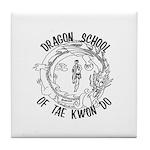 Dragon School Logo Tile Coaster