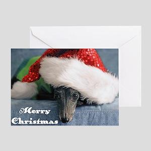 Italian Greyhound Merry Christmas Greeting Cards