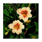 Rainy Daylily Tile Coaster