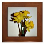 Yellow Daffodils Framed Tile