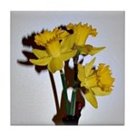 Yellow Daffodils Tile Coaster
