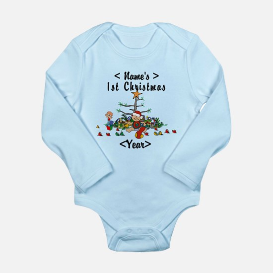 Personalize 1st Christmas Onesie Romper Suit