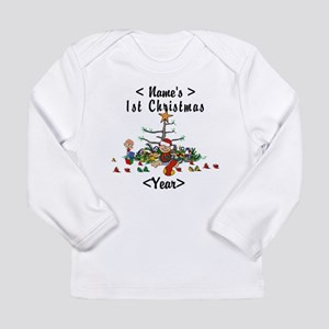 Personalize 1st Christmas Long Sleeve Infant T-Shi