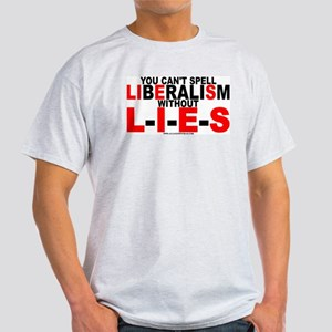 LIbEraliSm - LIES Ash Grey T-Shirt