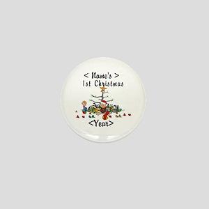 Personalize 1st Christmas Mini Button
