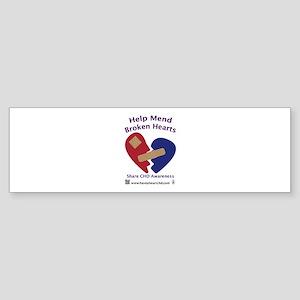 Mend Broken Hearts Bumper Sticker