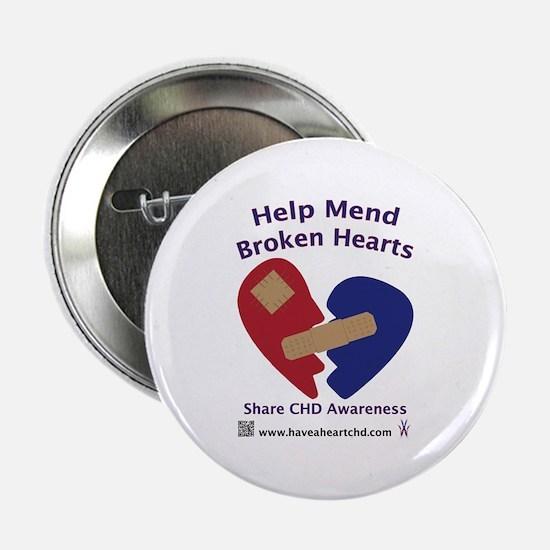 """Mend Broken Hearts 2.25"""" Button (10 pack)"""