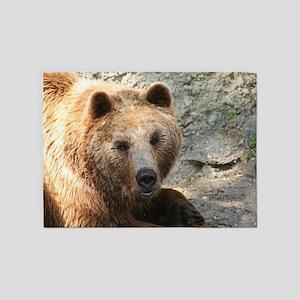 Brownbear001 5'x7'Area Rug