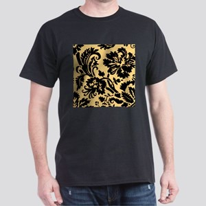 Yellow and Black Damask T-Shirt