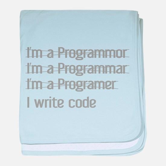 I Write Code baby blanket