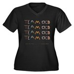 Team OCD Women's Plus Size V-Neck Dark T-Shirt