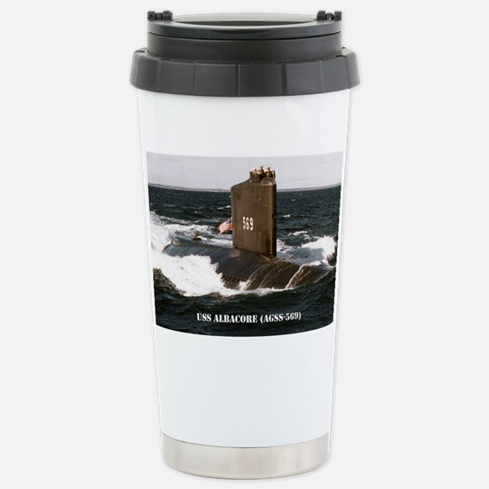 albacore post card Stainless Steel Travel Mug