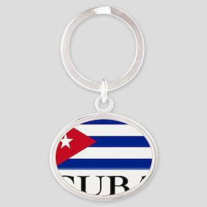 Front-Old Havana Harbor Oval Keychain