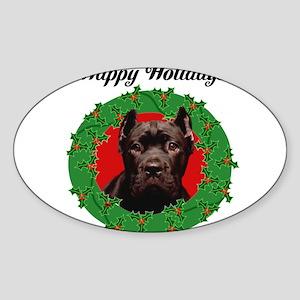 Happy Holidays Cane Corso Dog Sticker