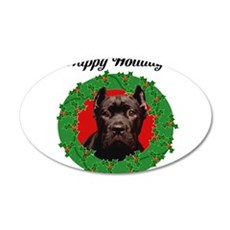 Happy Holidays Cane Corso Dog Wall Decal