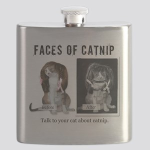 Faces of Catnip 2 Flask