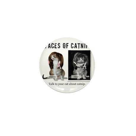 Faces of Catnip 2 Mini Button