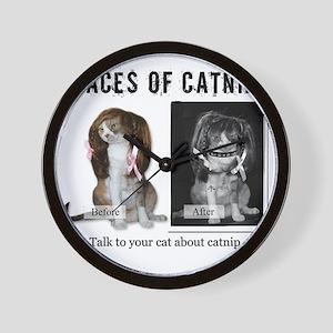 Faces of Catnip 2 Wall Clock
