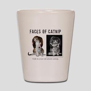 Faces of Catnip 2 Shot Glass